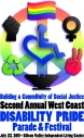 Logo for the Second Annual West Coast Disability Pride Parade and Festival