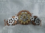 Tiara made of gears