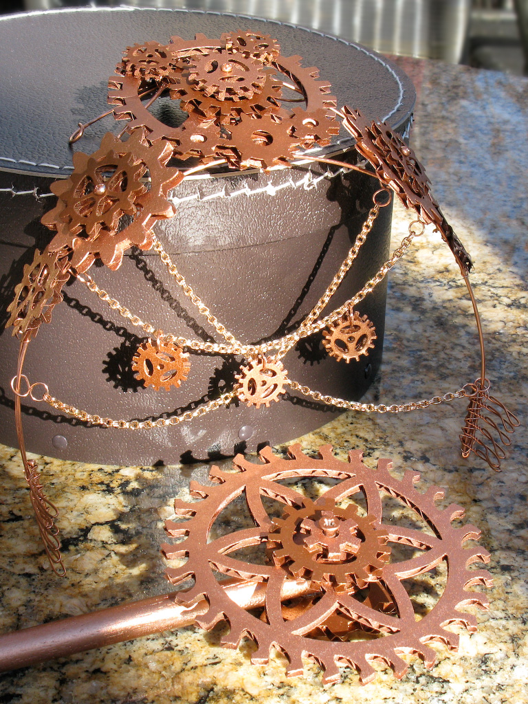 Copper Steampunk Fairy Tiara and Wand