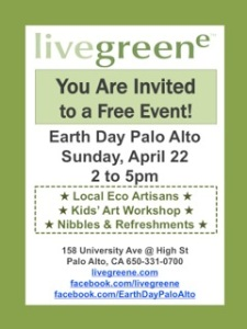 Earth Day Palo Alto flyer